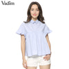 Loose Short Sleeve Blouse