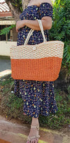Abaca Large Weave Beach Shopping Tote - Guam Shopping Network