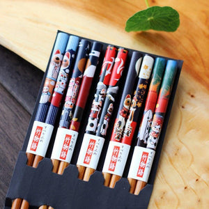 Handmade 5 pairs/Set Bamboo Ecological Chopsticks
