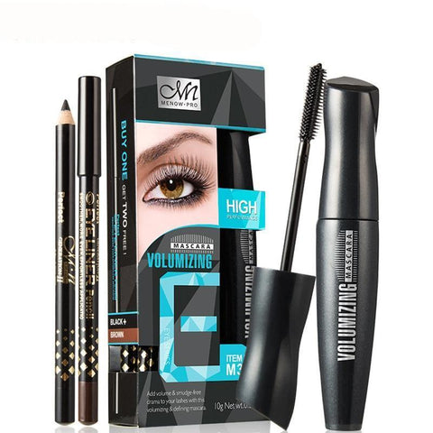 2pcs Eye Liner Pencil Volumizing Waterproof Mascara Black + Brown Eye Pen High Quality - Guam Shopping Network