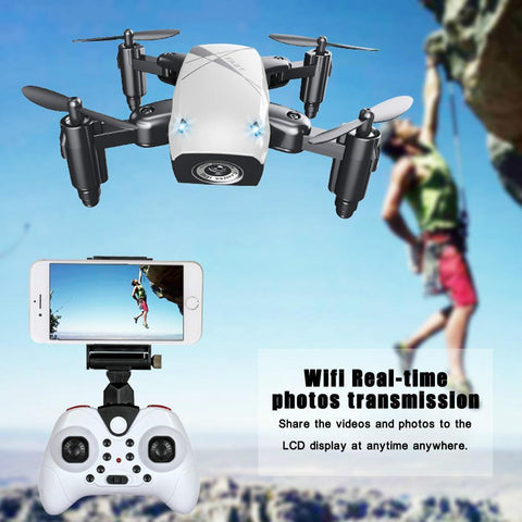 Mini Wifi Foldable Pocket Drone With HD Camera - Guam Shopping Network