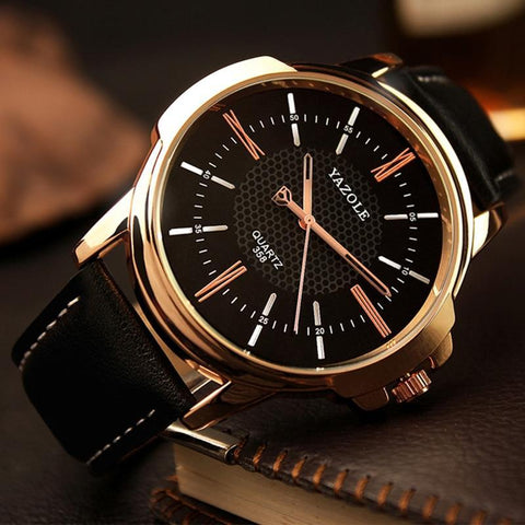 Yazole Brand Luxury Famous Men Watches Business Men's Watch Male Clock Fashion Quartz Watch Relogio Masculino reloj hombre 2019 - Guam Shopping Network