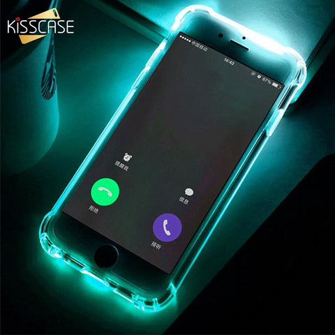 LED Light Case For iPhone 5 5s SE 6 6s Flash Silicone Cover - Guam Shopping Network