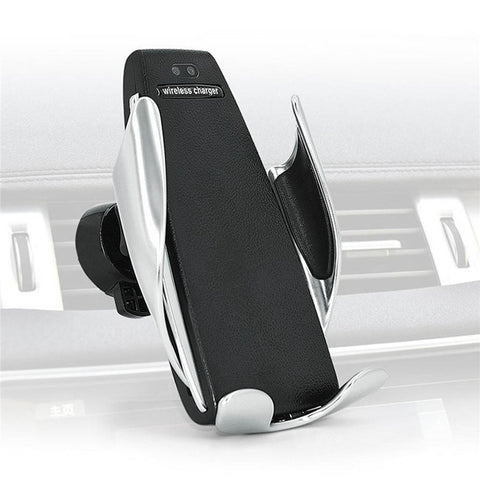 Automatic Clamping Wireless Car Charger For Iphone or Android - 360 Degree Rotation Mount Bracket - Guam Shopping Network