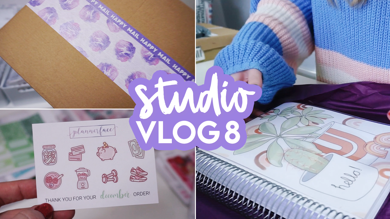 STUDIO VLOG #8 | New Stickers, Happy Mail & a Surprise Announcement! | Plannerface
