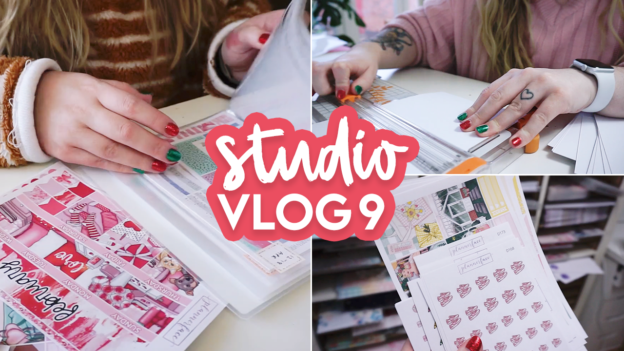 STUDIO VLOG #9 | Designing Stickers & Winding Down for Christmas | Plannerface