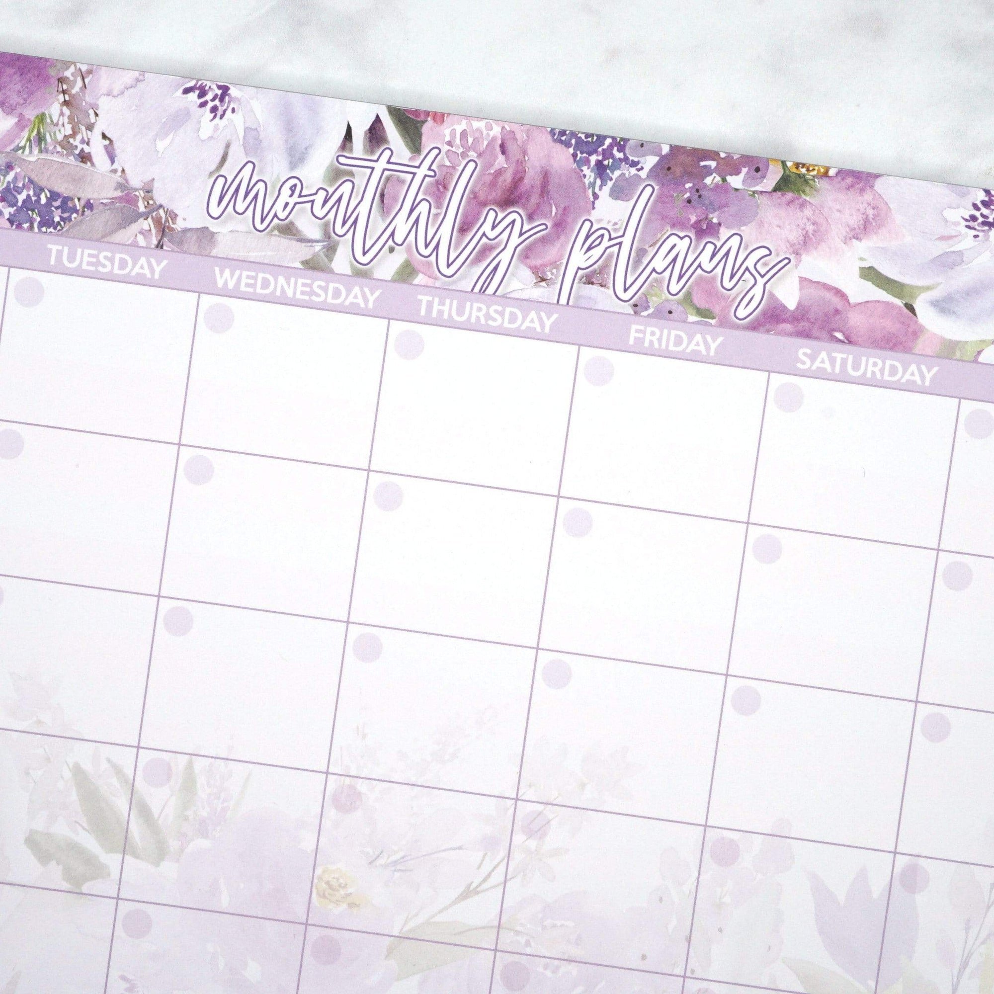 Plannerface A4 Floral Monthly Notepad Planner Stickers