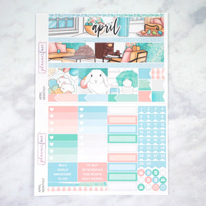 Plannerface April Monthly Kit Planner Stickers