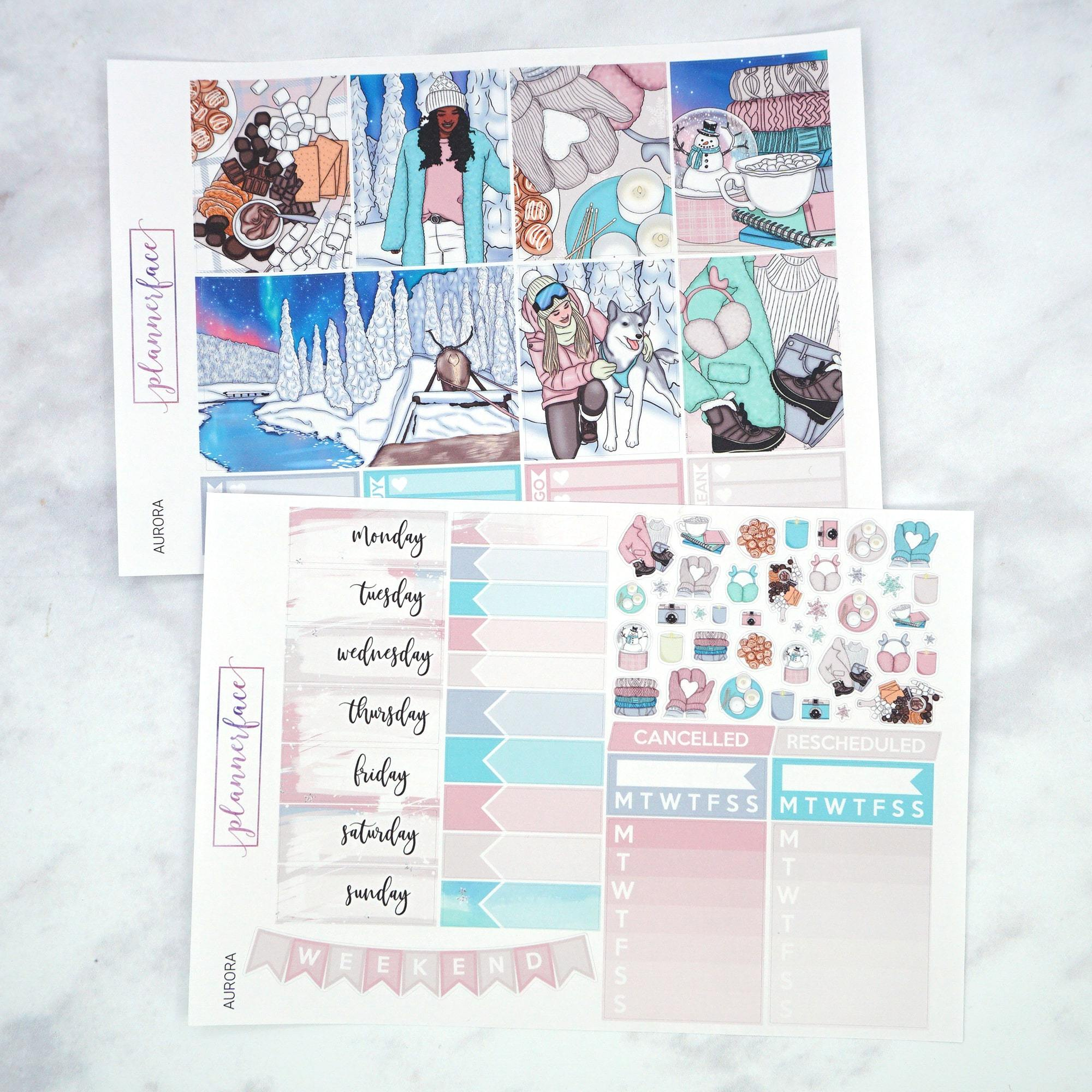 Plannerface Aurora Weekly Kit Planner Stickers