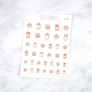 Plannerface Autumn Candles Doodles Planner Stickers
