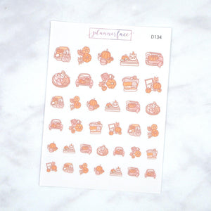 Plannerface Autumn Doodle Sampler Planner Stickers