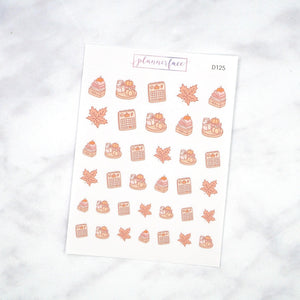 Plannerface Autumn Things Doodles Planner Stickers