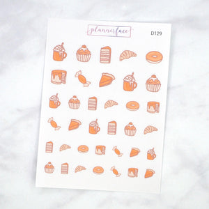 Plannerface Autumn Treats Doodles Planner Stickers