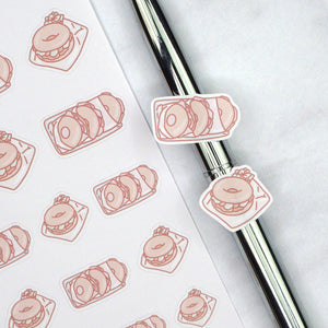 Plannerface Bagel Doodles Planner Stickers
