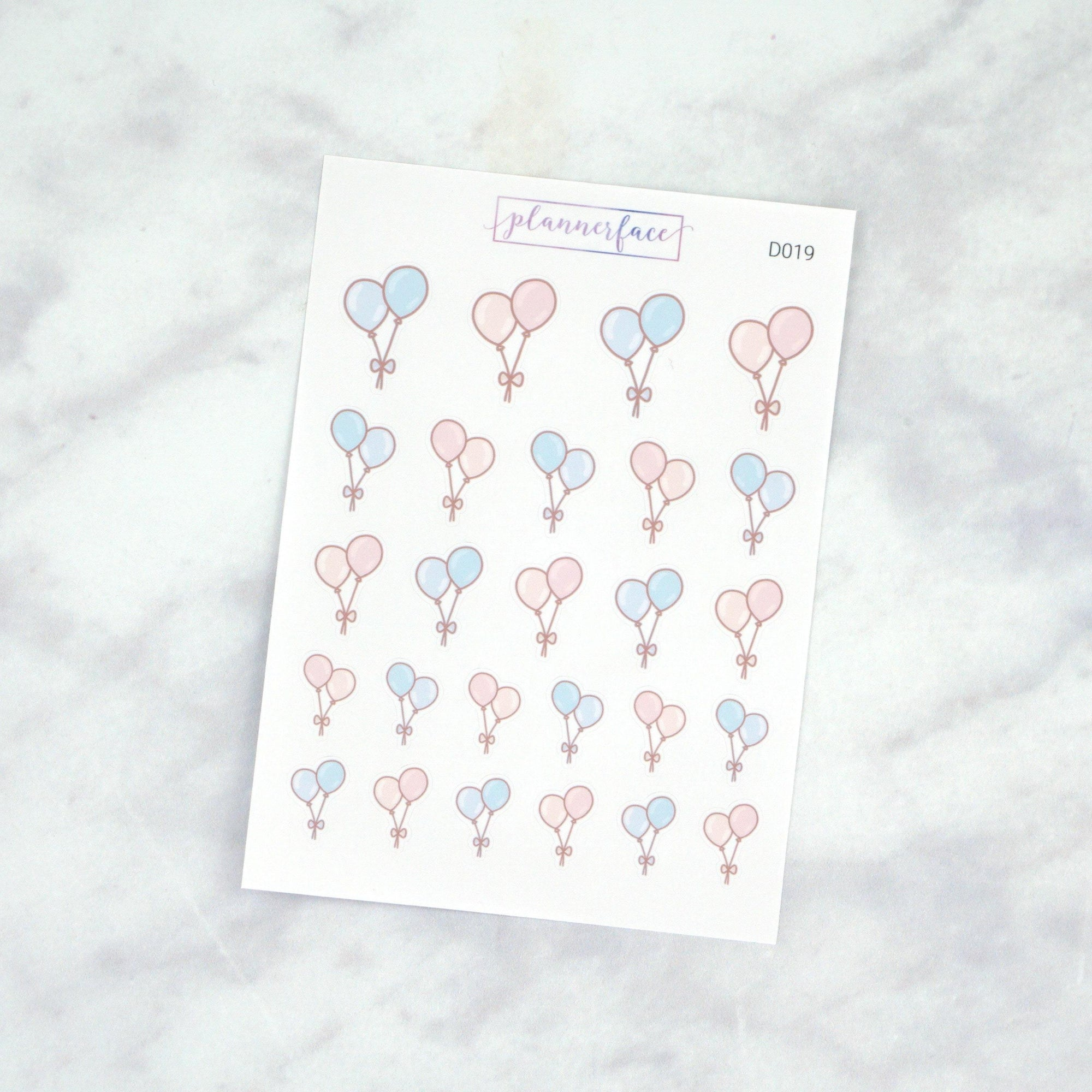 Plannerface Balloon Doodles Planner Stickers