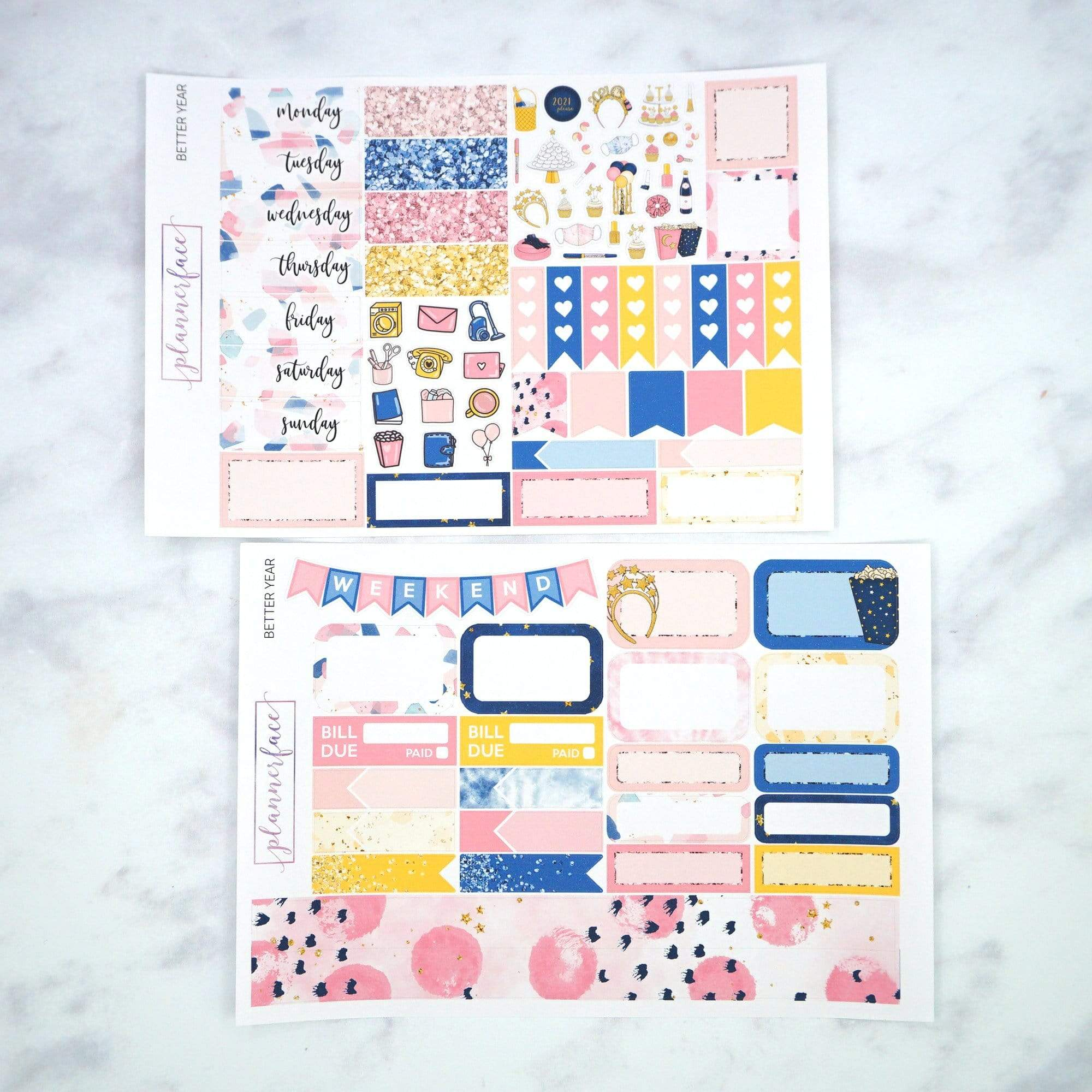 Plannerface Better Year Mini Kit Planner Stickers