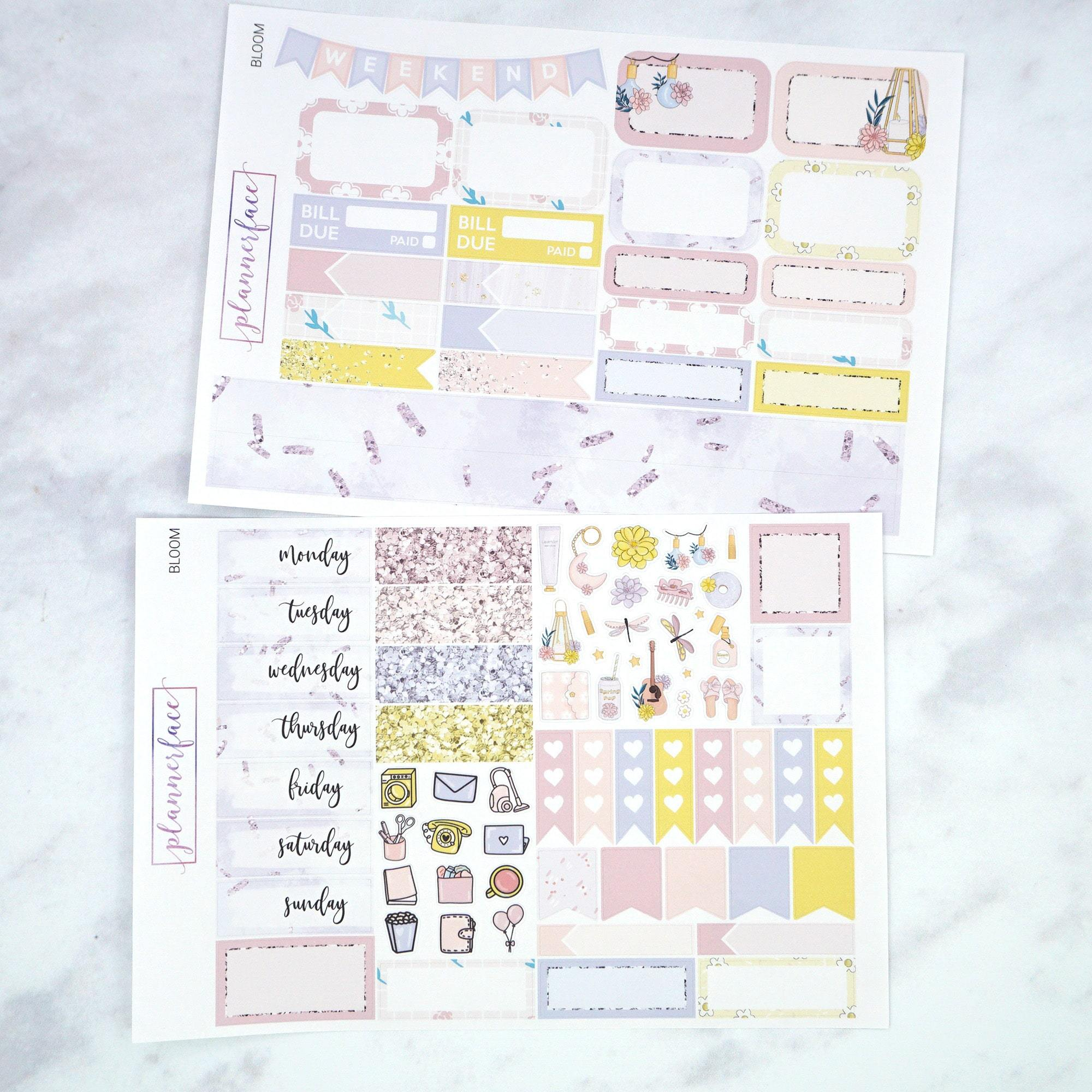 Plannerface Bloom Mini Kit Planner Stickers