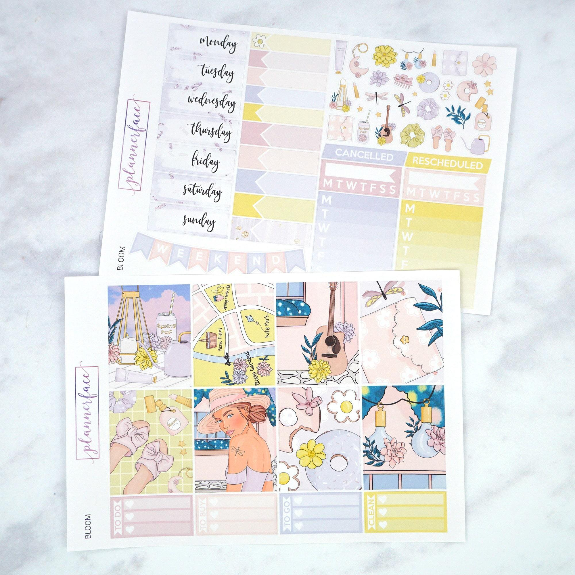 Plannerface Bloom Weekly Kit Planner Stickers