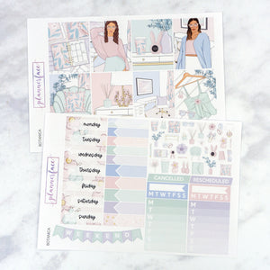 Plannerface Botanica Weekly Kit Planner Stickers