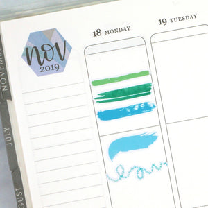 Plannerface Brush Strokes - WARM | Multicolour Planner Stickers
