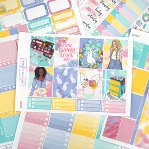 Plannerface Bunny Weekly Kit Planner Stickers