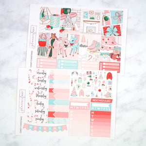 Plannerface Candy Christmas Weekly Kit Planner Stickers