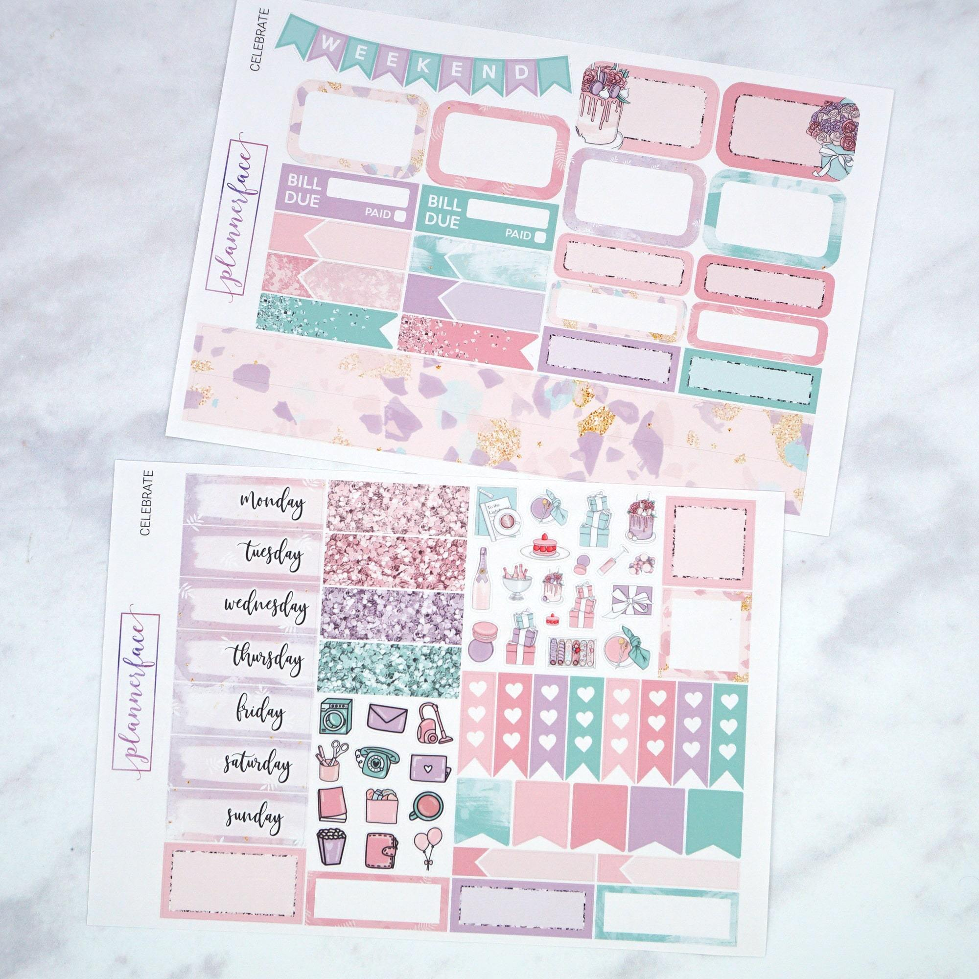 Plannerface Celebrate Mini Kit Planner Stickers