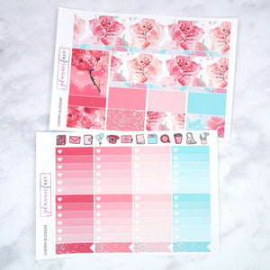Plannerface Cherry Blossom Weekly Kit Planner Stickers