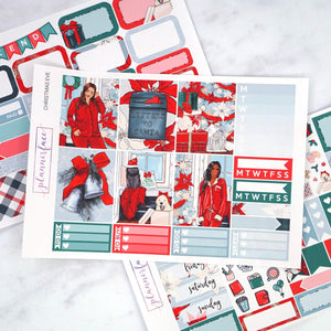 Plannerface Christmas Eve Mini Kit Planner Stickers