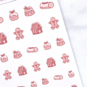Plannerface Christmas Treats Doodle Sampler Planner Stickers