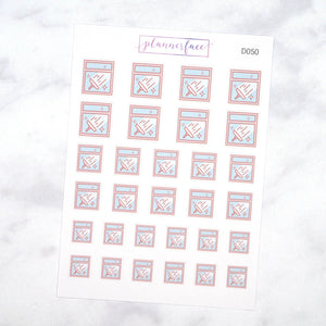 Plannerface Clean Windows Doodles Planner Stickers
