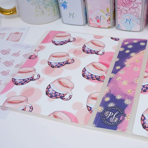 Plannerface Coffee or Tea? Sticker Album (Small) Planner Stickers