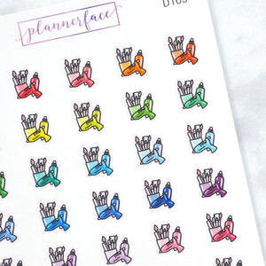 Plannerface Crafting Multicolour Doodles Planner Stickers