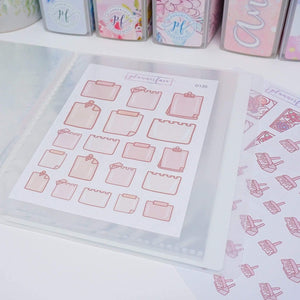 Plannerface Crystal Glitter Sticker Album (Small) Planner Stickers
