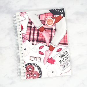 "Plannerface Dark Lazy Day Reusable Sticker Album (5"" x 7"") Planner Stickers"