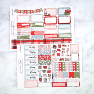 Plannerface Dear Santa Mini Kit Planner Stickers