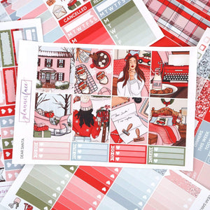 Plannerface Dear Santa Weekly Kit Planner Stickers