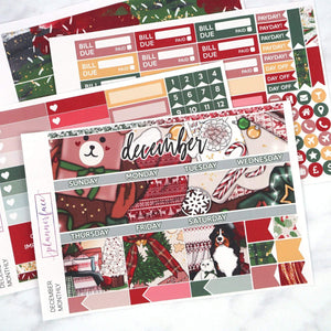 Plannerface December Monthly Kit Planner Stickers