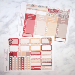 Plannerface Elegance Weekly Kit Planner Stickers