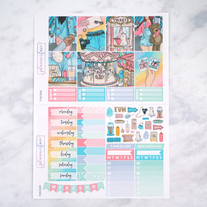 Plannerface Fun Fair Weekly Kit Planner Stickers