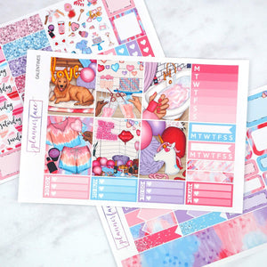Plannerface Galentines Mini Kit Planner Stickers