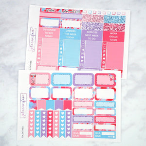 Plannerface Galentines Weekly Kit Planner Stickers