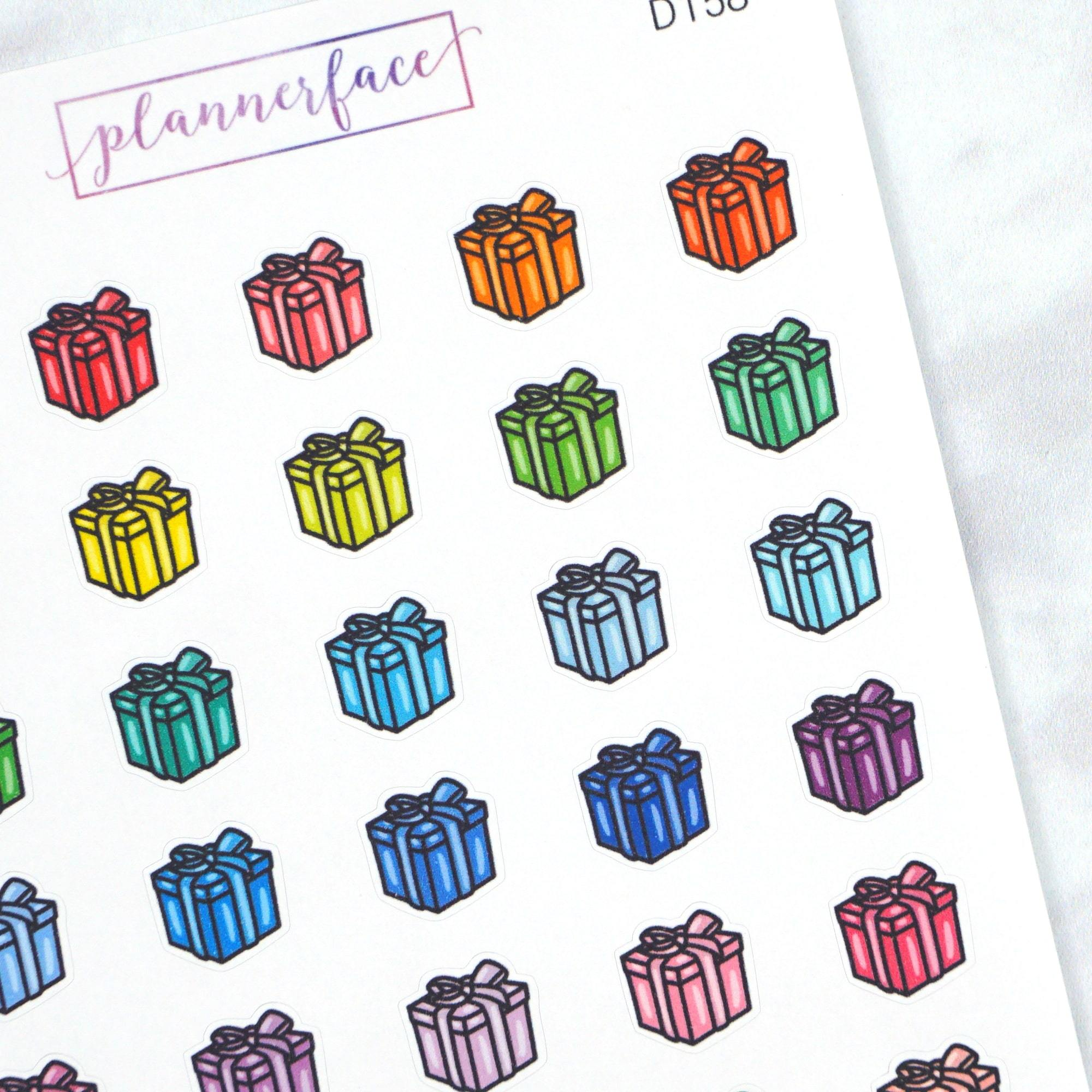 Plannerface Gift Box Multicolour Doodles Planner Stickers