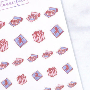 Plannerface Gift Wrapping Doodles (Pastel) Planner Stickers