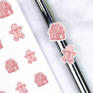 Plannerface Gingerbread Doodles Planner Stickers