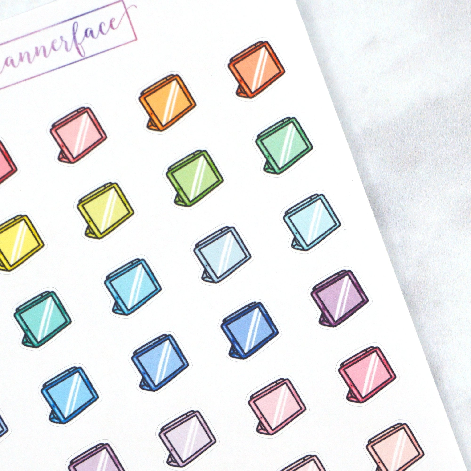 Plannerface Graphics Tablet Multicolour Doodles Planner Stickers