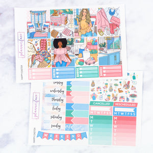 Plannerface Happy Easter Weekly Kit Planner Stickers