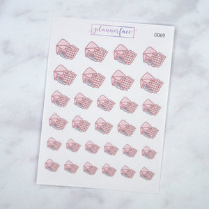 Plannerface Happy Mail Doodles Planner Stickers
