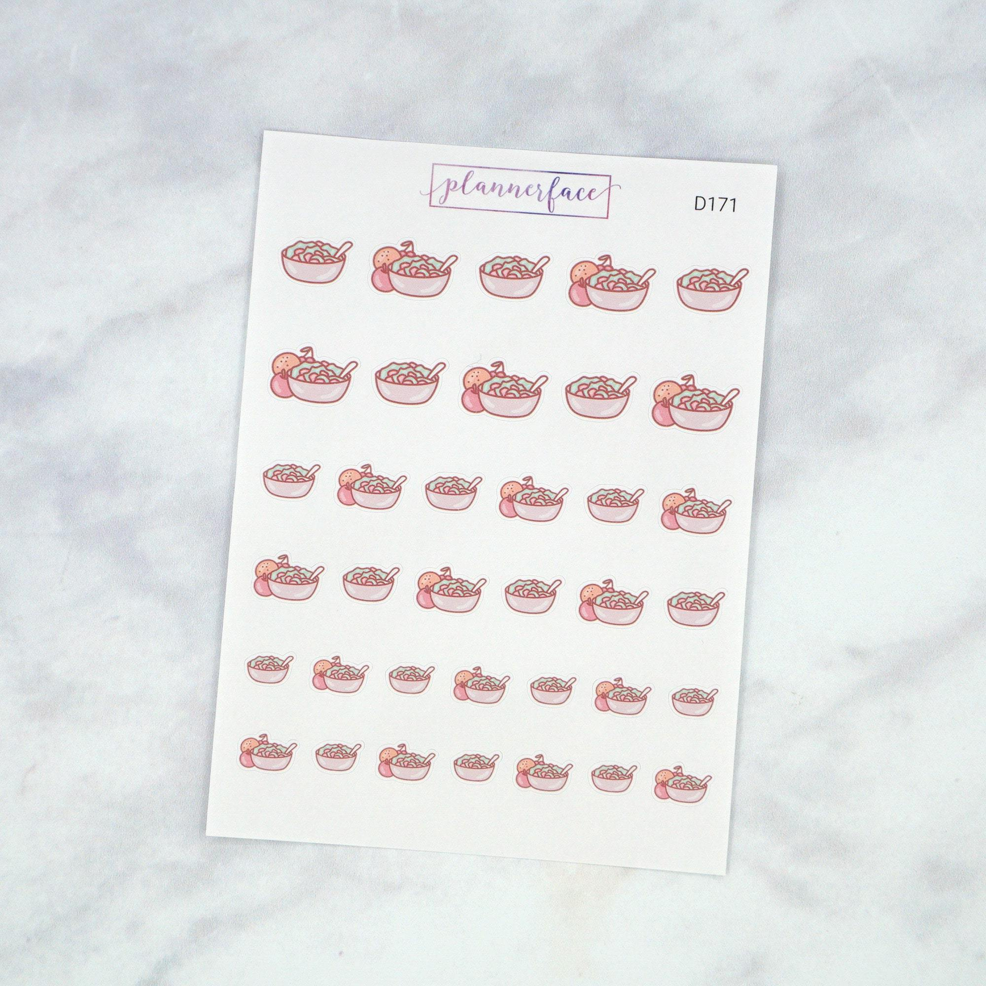 Plannerface Healthy Salad Doodles Planner Stickers