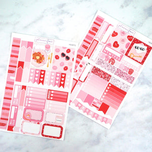 Plannerface Hearts Mini Kit Planner Stickers